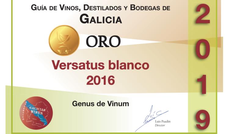 Oro para Versatus en la Guía de Vinos y Destilados de Galicia de Luis Paadín