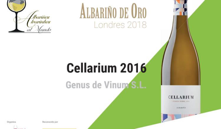 Albariño de Oro en el Concurso Internacional Albariños al Mundo para Cellarium